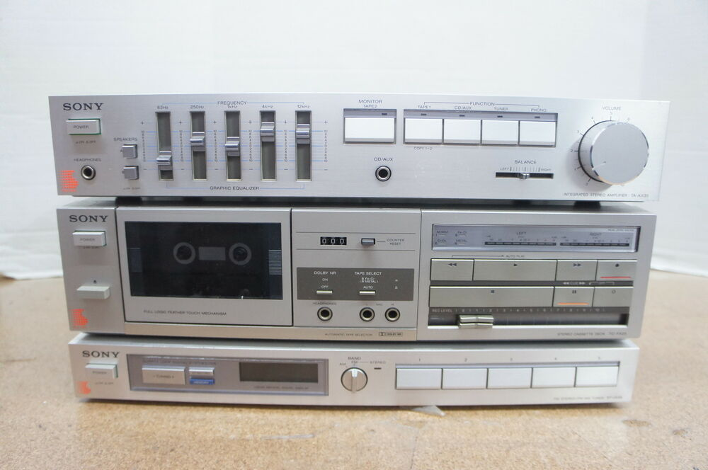 Sony Integrated Amplifier Tape Deck Stereo Tuner Combo Ta