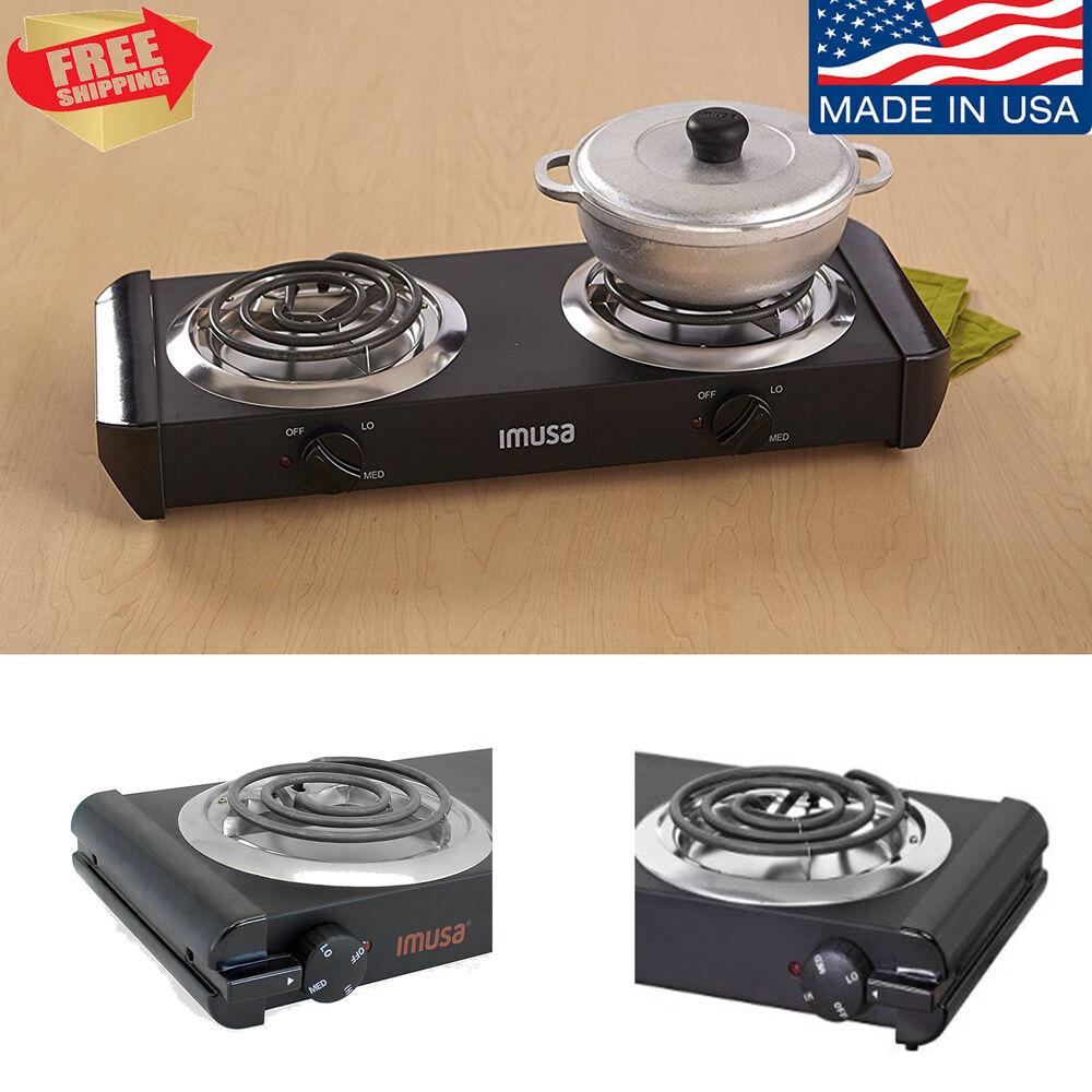 Portable Electric Cooktop ~ Portable electric burner cooktop double stove hot plate