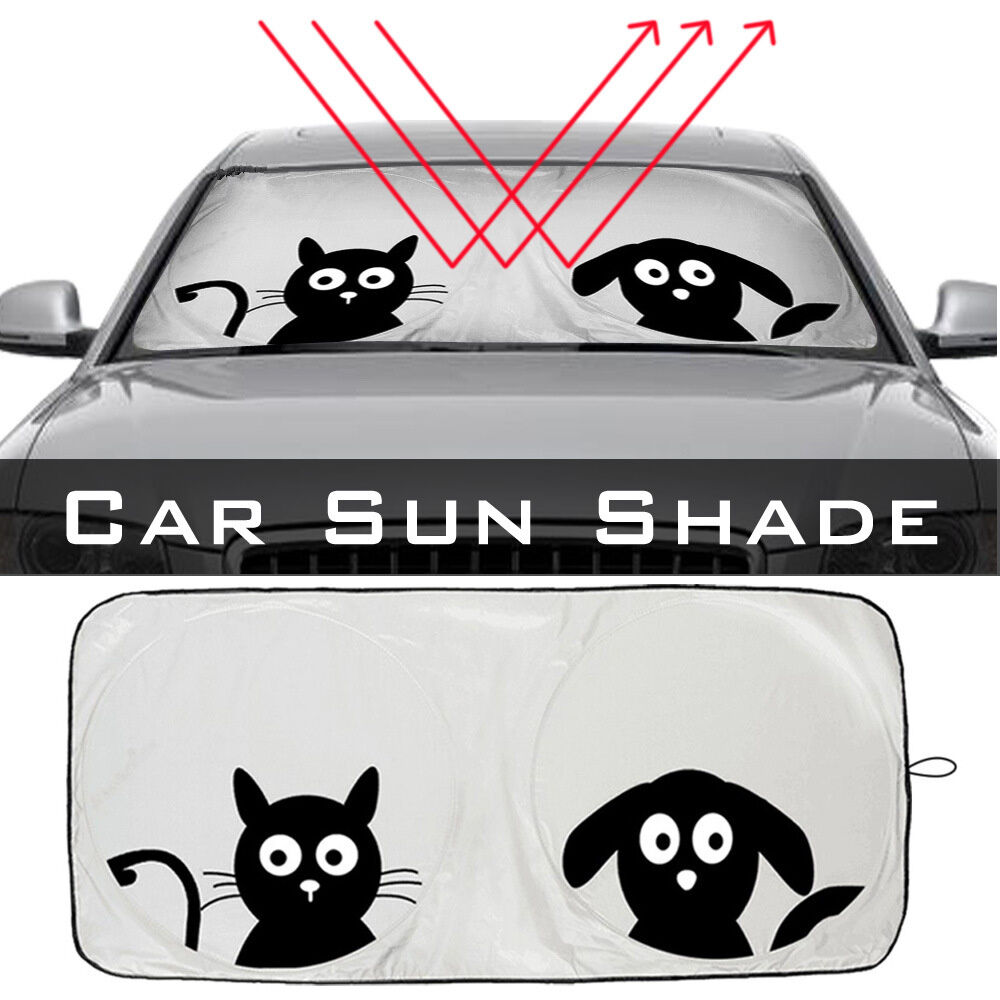 1x pattern car front window sun visor interior high quality nylon car sunshades ebay. Black Bedroom Furniture Sets. Home Design Ideas