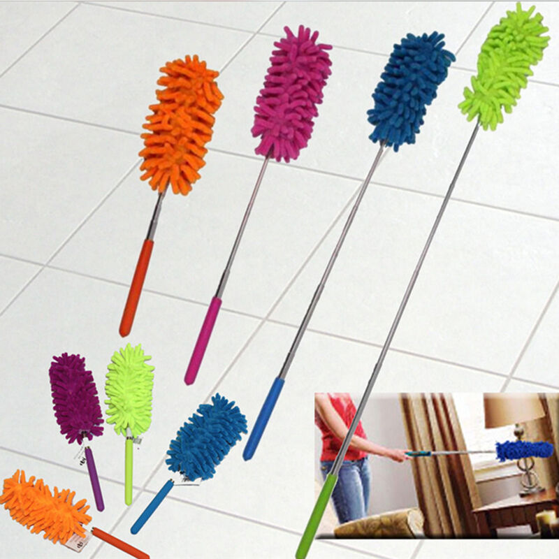 telescopic microfibre duster extendable cleaning home car cleaner dust handle ebay. Black Bedroom Furniture Sets. Home Design Ideas