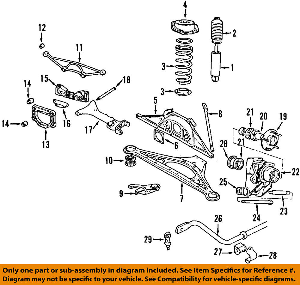 Jaguar Xj6 Rear Suspension Diagram Content Resource Of Wiring Headlight For 2005 Xj8 Oem 98 03 Support Bushing Cac4713 Ebay Rh Com