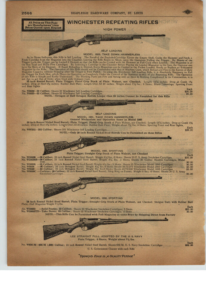 Advertising Original 1917 Winchester Gun Advertisement..be Nice Framed 1910-19