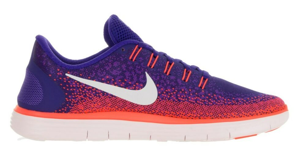 ef450a99a28c0 Details about Nike Free RN Distance Running Shoes Purple Orange White 827115 -402  120 Mens 10
