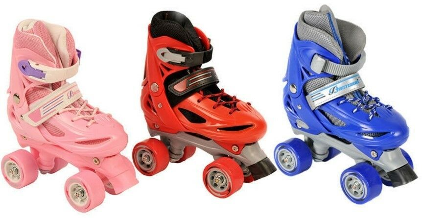 Details about BOYS GIRLS ROLLER SKATES KIDS ADJUSTABLE 4 WHEEL QUAD SKATE  BOOTS ADULTS WOMENS d1305c3e2