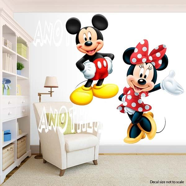 Mickey Mouse And Minnie Mouse Room Decor Wall Decal Removable Sticker Ebay