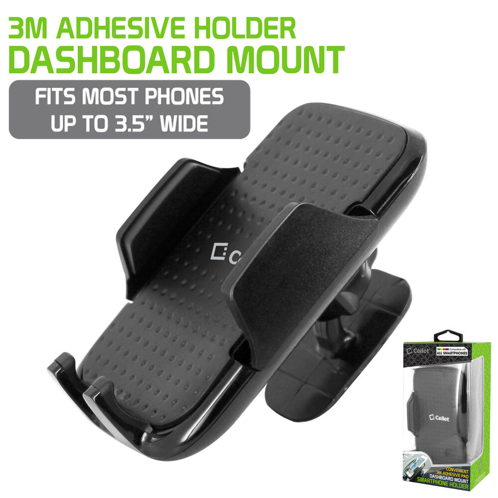 Magnetic Cell Phone Mount >> 3M Adhesive Car Mount Dash Smartphone Holder Cradle for ...