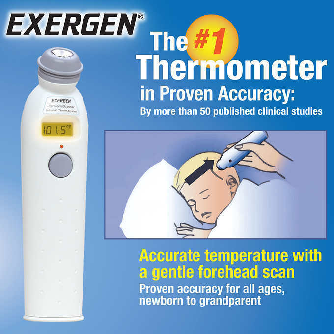 Exergen Temporal Scanner Smart Glow Temporal Artery Thermometer