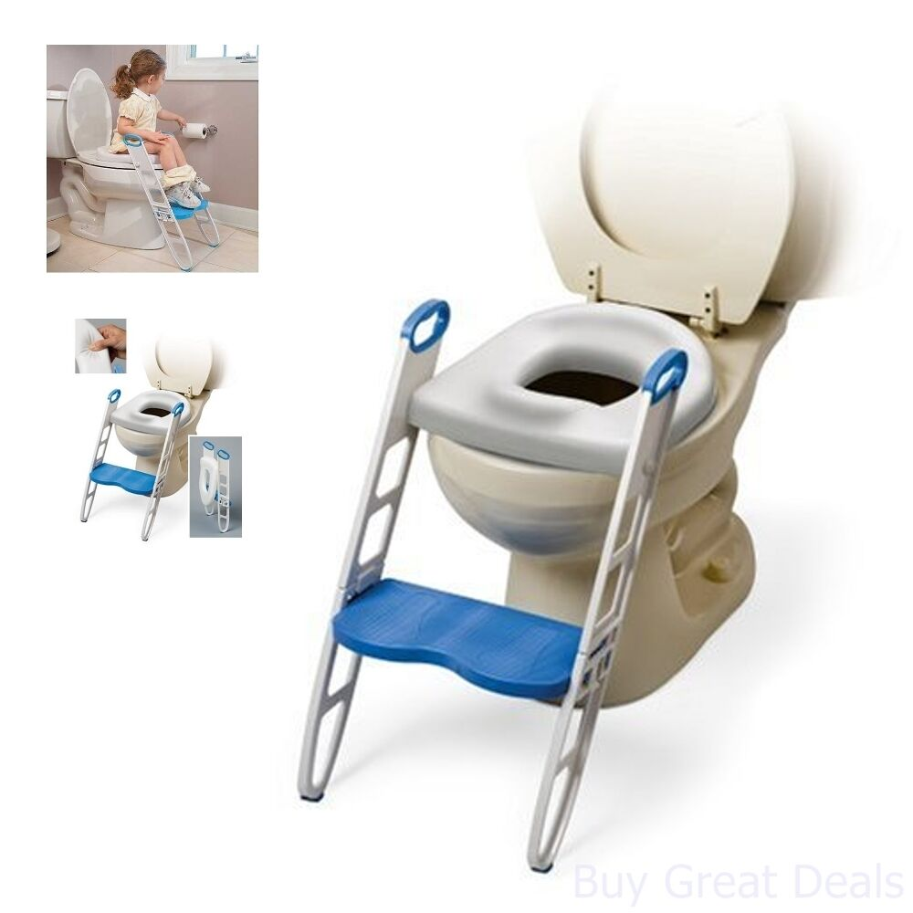 Toddler Potty Seat Steps Bathroom Training Kids Helper Stairs Toilet Stool New