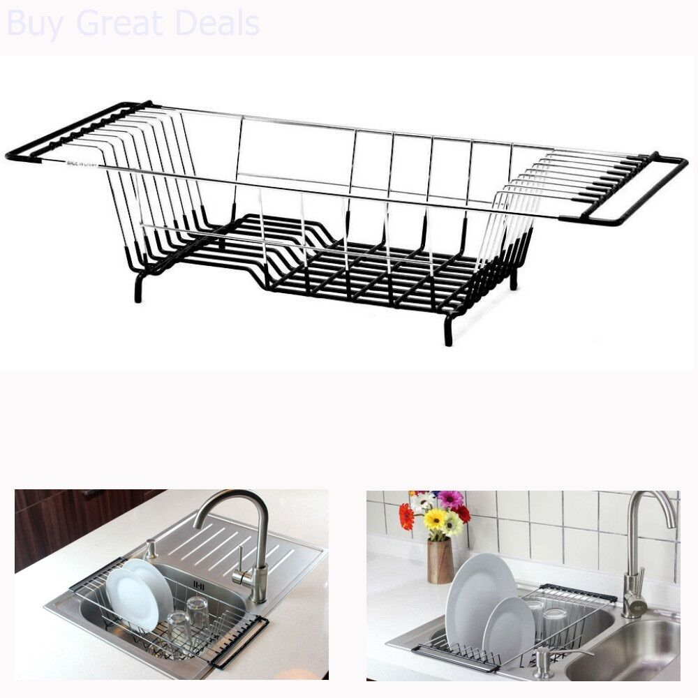 Over The Sink Kitchen Dish Drainer Rack Holder Drying