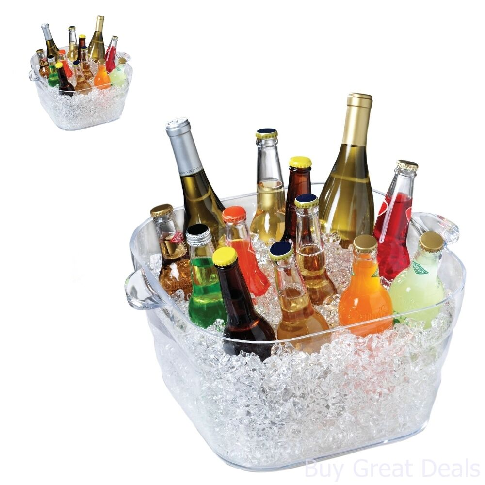 beverage personalized burlap tubs collections rustic galvanized chiller buckets the bucket tub southern ice and a square party wine clements