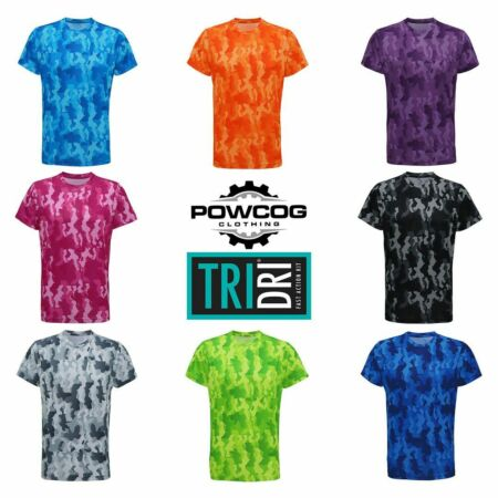 img-Men's TriDri Hexoflage Performance T-Shirt Ultra Cool Fitness Gym Leisure Tee