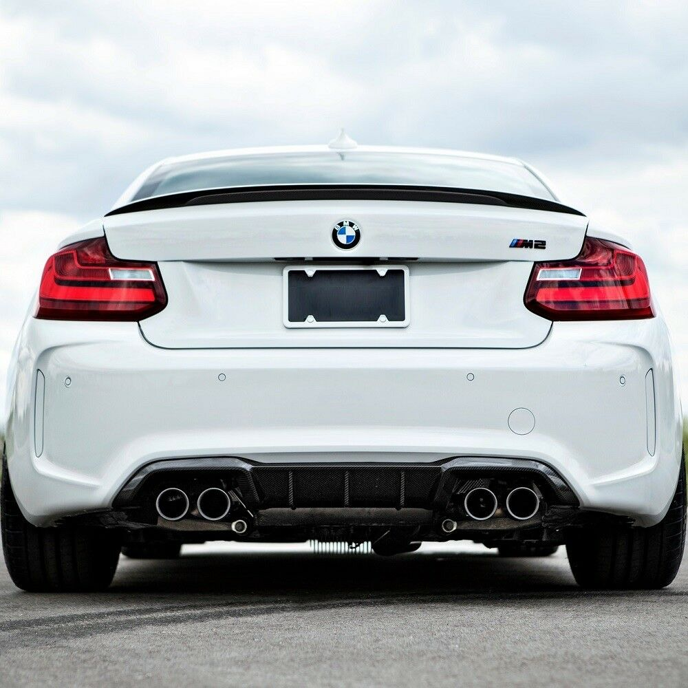 bmw f87 m2 performance style carbon fiber rear diffuser ebay. Black Bedroom Furniture Sets. Home Design Ideas