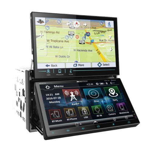soundstream vrn dd7hb dvd cd player dual touch screen bluetooth gps usb android 3702313054721 ebay. Black Bedroom Furniture Sets. Home Design Ideas