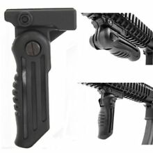 Tactical Folding Handgrip Foldable Fore Grip Front Grip 20mm Rail Mount