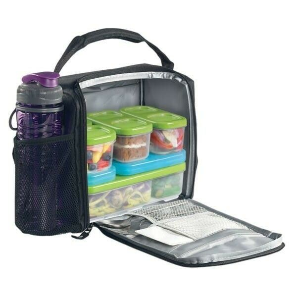 new lunch box bag food storage containers cooler school. Black Bedroom Furniture Sets. Home Design Ideas