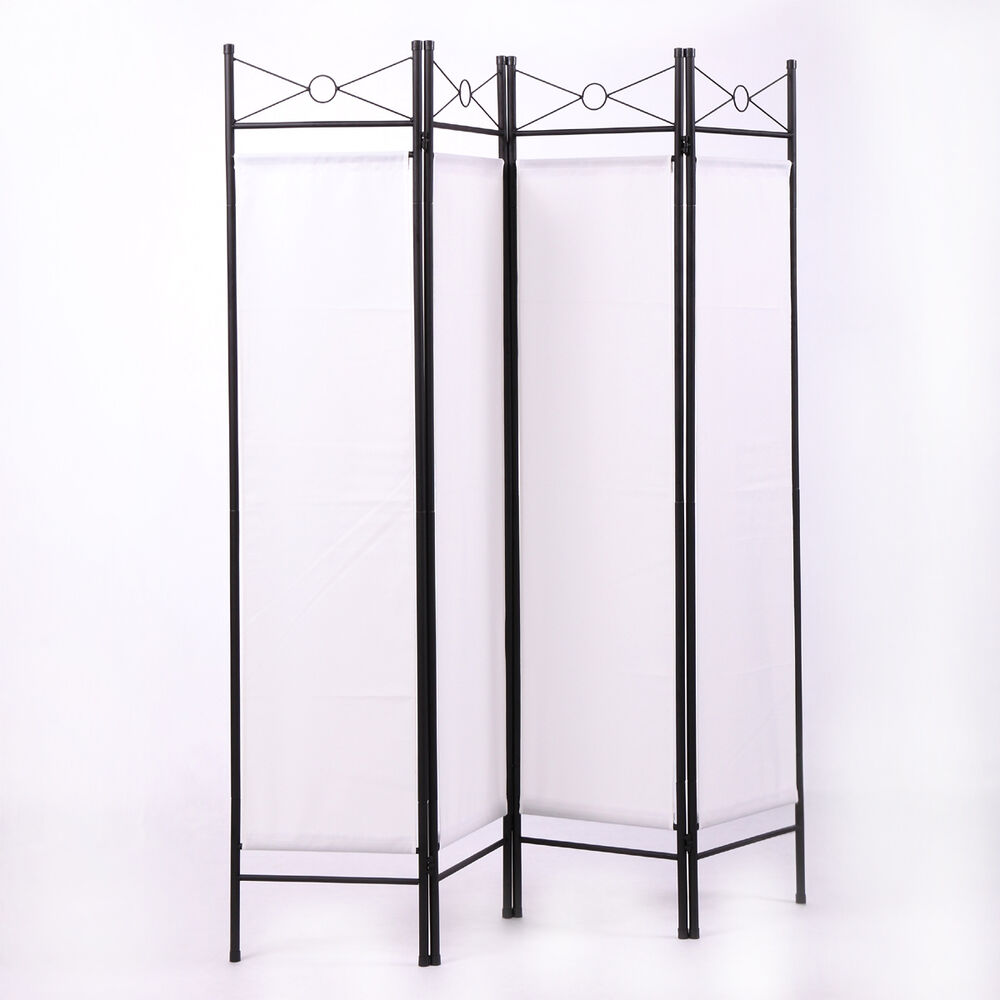 4 panel room divider privacy folding screen durable movable partition white 613852704950 ebay. Black Bedroom Furniture Sets. Home Design Ideas
