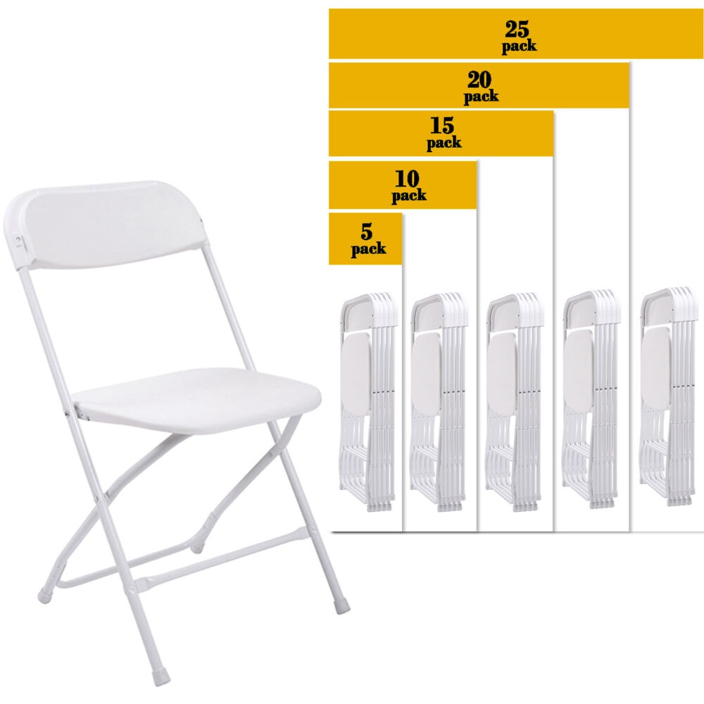 5 to 25 pack commercial wedding quality stackable for Good quality folding chairs