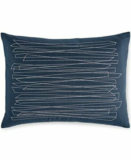 NEW Calvin Klein Zigzag Overstitch Pillow 40 X 40in Pacific Blue Awesome Calvin Klein Madeira Decorative Pillow
