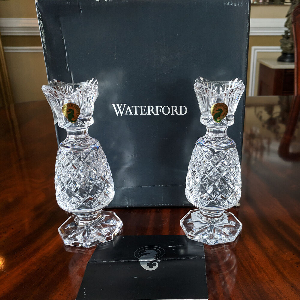 Waterford crystal hospitality candlestick 6 pair candle holder waterford crystal hospitality candlestick 6 pair candle holder stick pineapple ebay reviewsmspy