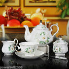 New Continental Fashion Classic 15 p Porcelain White Coffee cup Coffee pot set