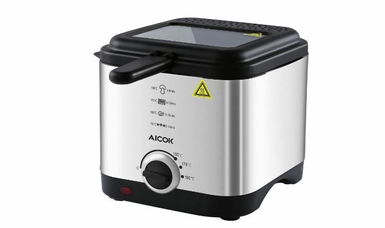 aicok stainless steel kitchen mini deep fat fryer 900w 1. Black Bedroom Furniture Sets. Home Design Ideas