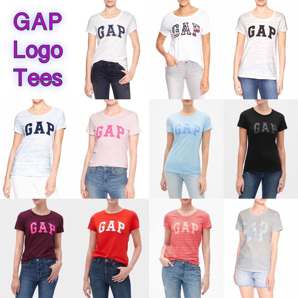 335a8873413ab Details about GAP WOMEN ARCH LOGO TEES