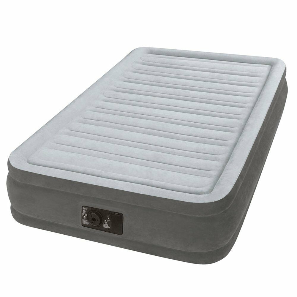 Intex Inflatable Full Airbed Twin Size Built In Electric ...