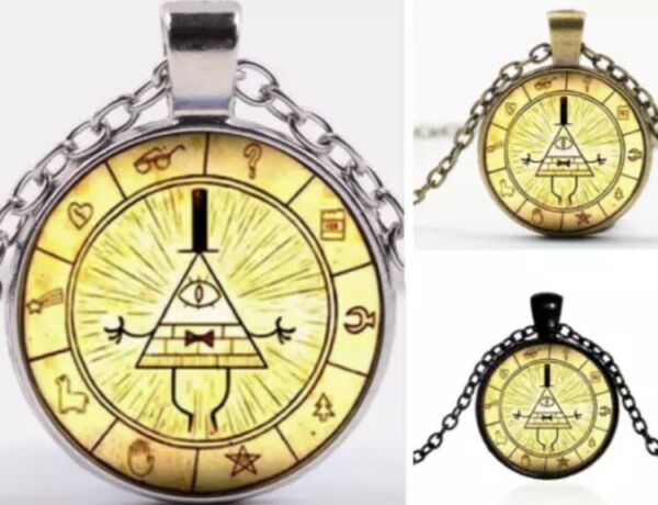 Gravity Falls Mysterious Bill Cipher Wheel Necklace Pendant Anime US Seller