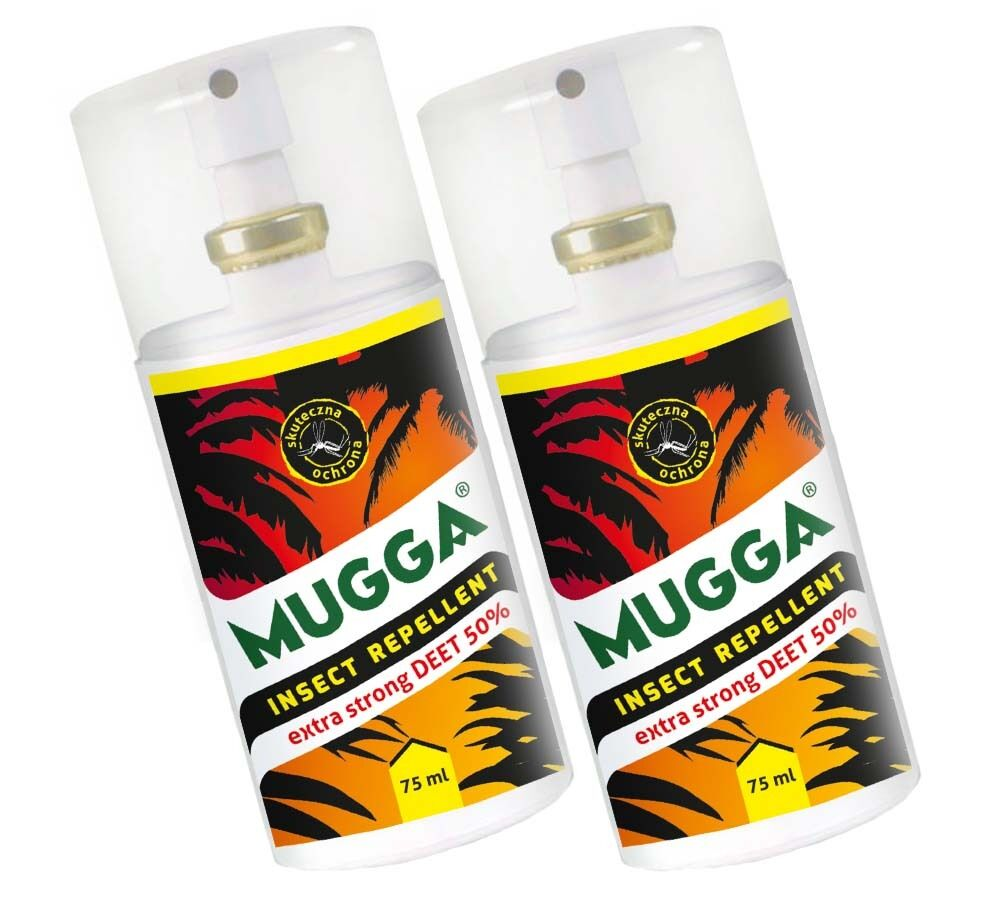 2 x mugga strong spray 50 deet gegen m cken und zecken 75 ml ebay. Black Bedroom Furniture Sets. Home Design Ideas