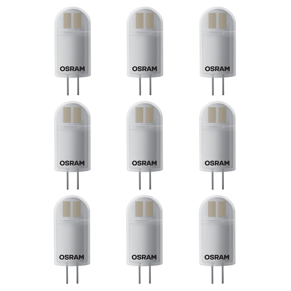 9er pack osram led pin g4 1 7w ersatz f r 20 watt 200 lumen warm white ebay. Black Bedroom Furniture Sets. Home Design Ideas