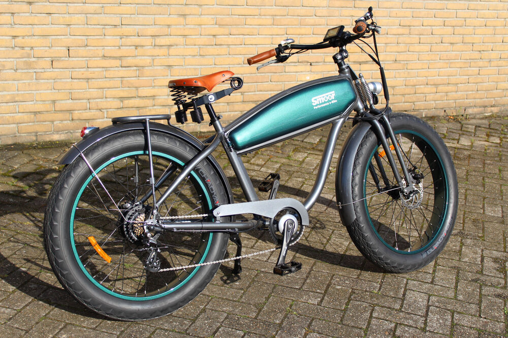 e bike retro chopper cruiser pedelec fat bike im. Black Bedroom Furniture Sets. Home Design Ideas
