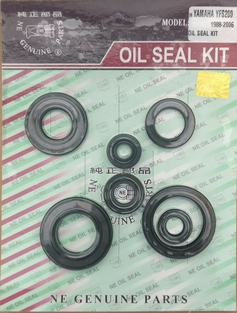 Yamaha blaster yfs200 88 06 engine crank 6 piece oil seal for Yamaha blaster crankcase oil type