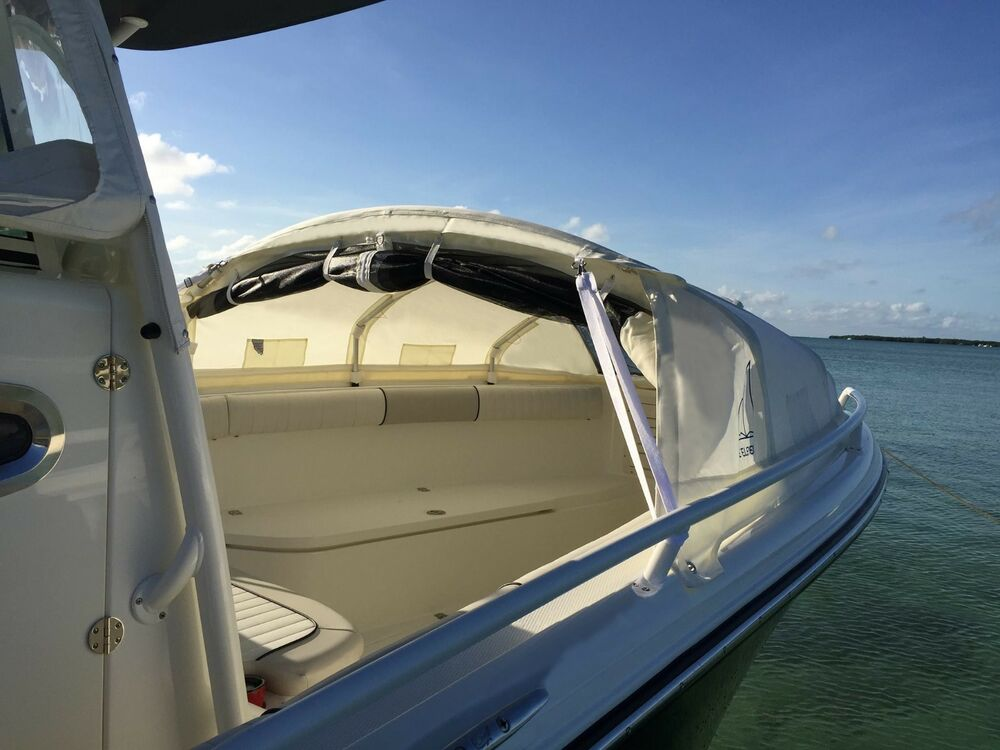 Boat Tent Cover : Mako center console boat bow dodger shade tent
