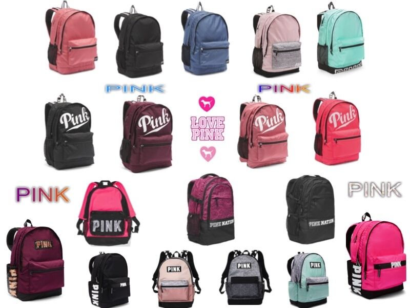 Details about New VICTORIA SECRET PINK Campus Backpack 206cf7e1f52cf