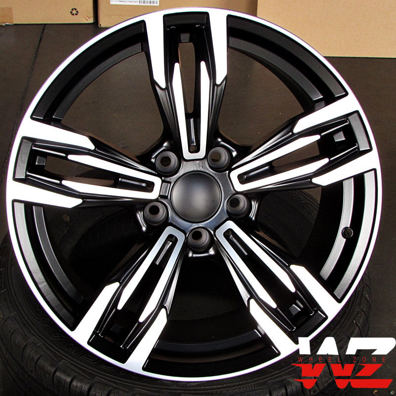 20 Inch 433 Style Wheels Black Machined Fits BMW 3 4 5 6