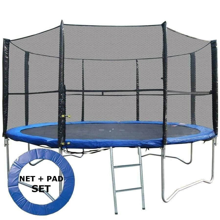 BodyRip Set Of Trampoline Padding + Safety Net 10Ft
