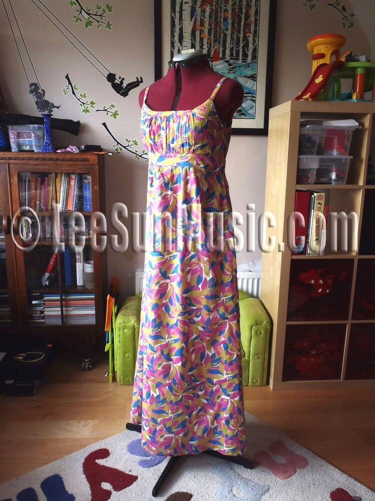 7480f2e83565 Details about Boden Maxi Dress STUNNING UK Size 10 Regular NEW Pure Voile  Cotton PINK 10R