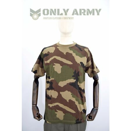 img-Army Woodland Camo Tshirt Crew Neck Camouflage British NATO Hunting Shooting