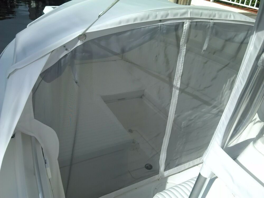 Boat Tent Cover : Angler shade center console boat bow dodger tent