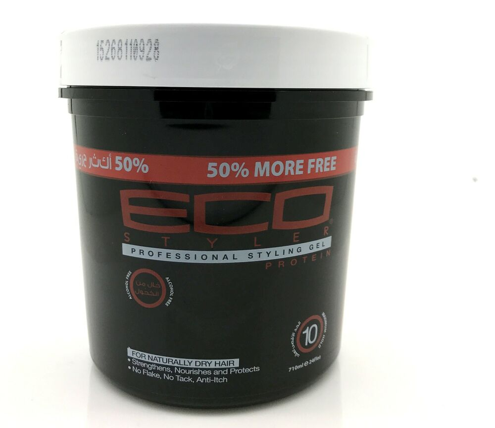 black hair styling gel eco styler professional styling gel protein black 8313