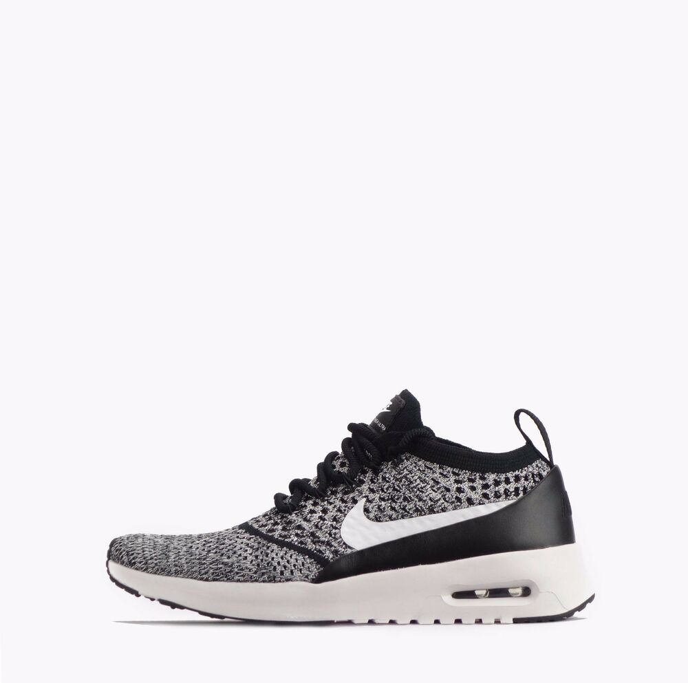 ca15e6a5ea Details about Nike Air Max Thea Ultra Flyknit Women's Shoes Black/White
