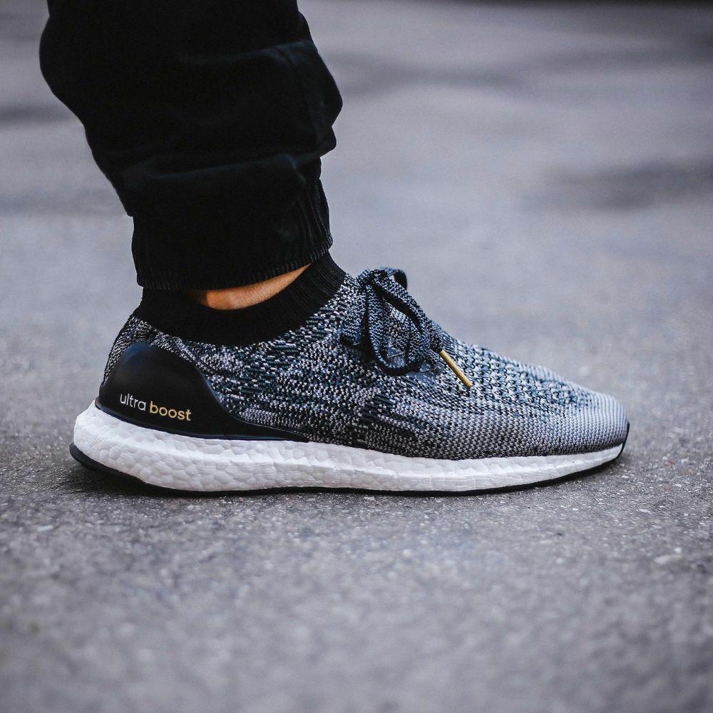 release date 8bf0f a71a8 Details about Adidas Ultra Boost Uncaged Black White BB3900 new men running  primeknit no box