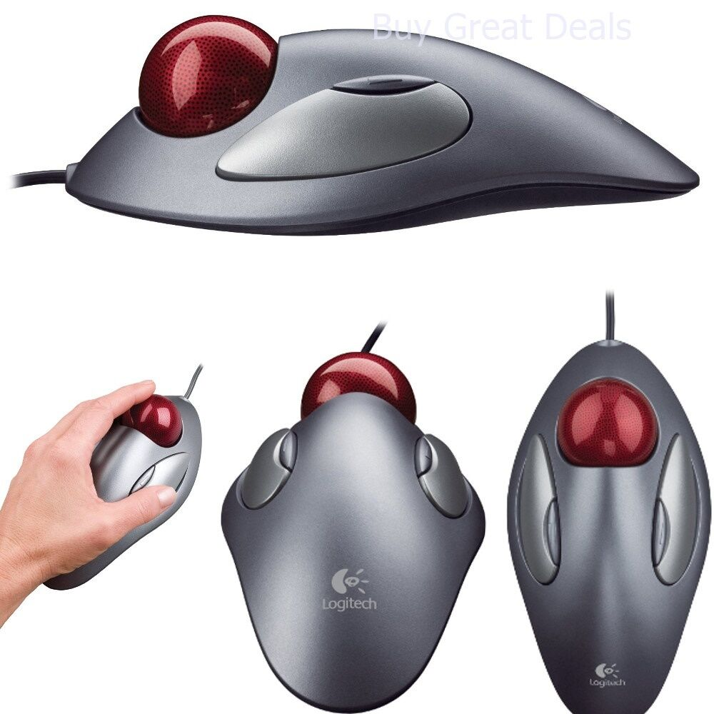 c1baeb53d12 Details about Logitech Trackman Trackball Computer Tablet PC Marble Mouse  Scroll Programmable