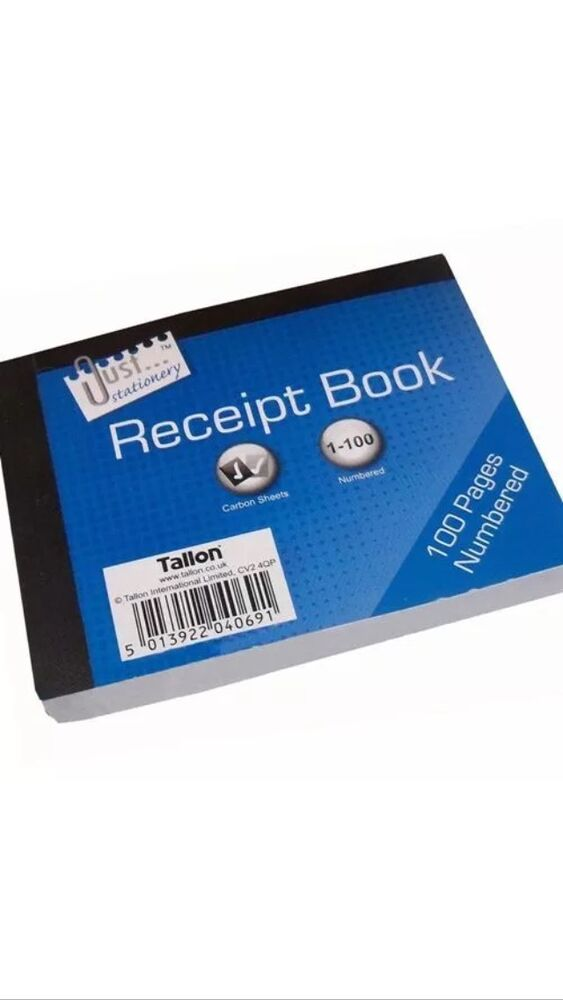 duplicate receipt book pages numbered 1 80 with 2 sheets of carbon