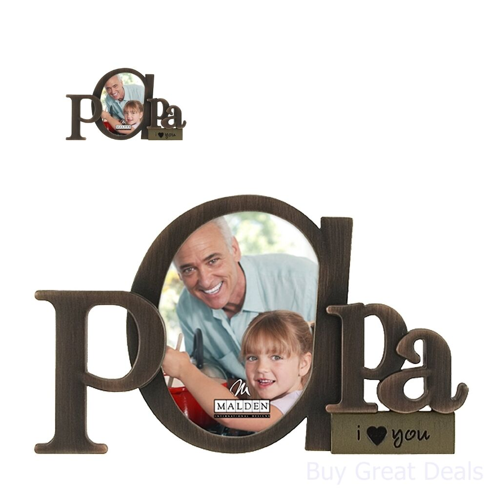 Papa Picture Frame Dad Mom Nana Opening Photo Frames Birthday