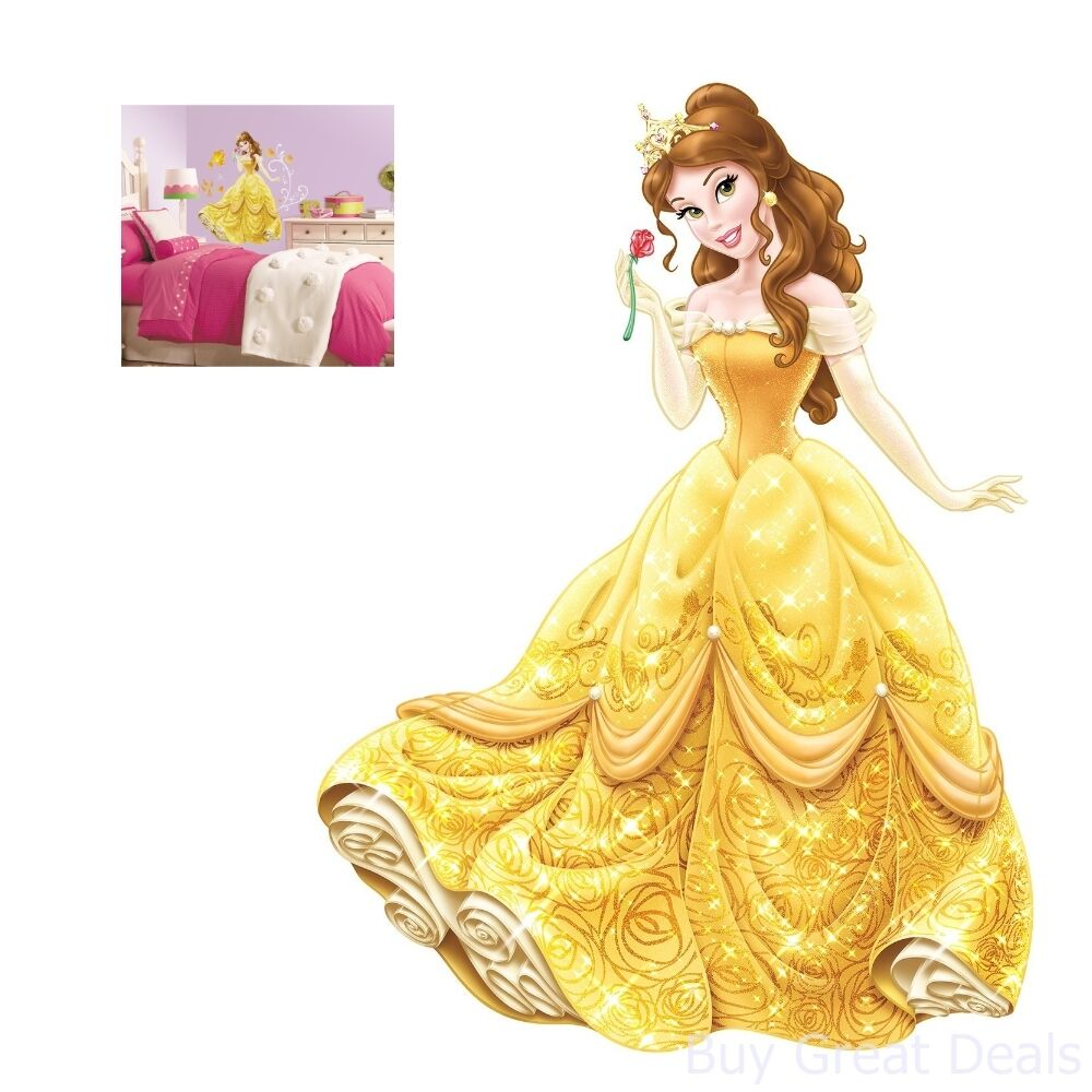 Princess Wall Decal Bell Beauty And The Beast Giant Sticker Disney