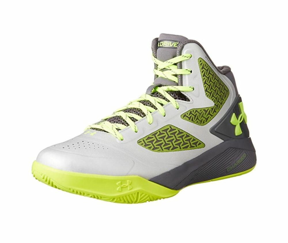 online store 54096 d6f46 Details about Under Armour Men s UA Clutchfit Drive II Basketball Shoes   Metallic Silver  10