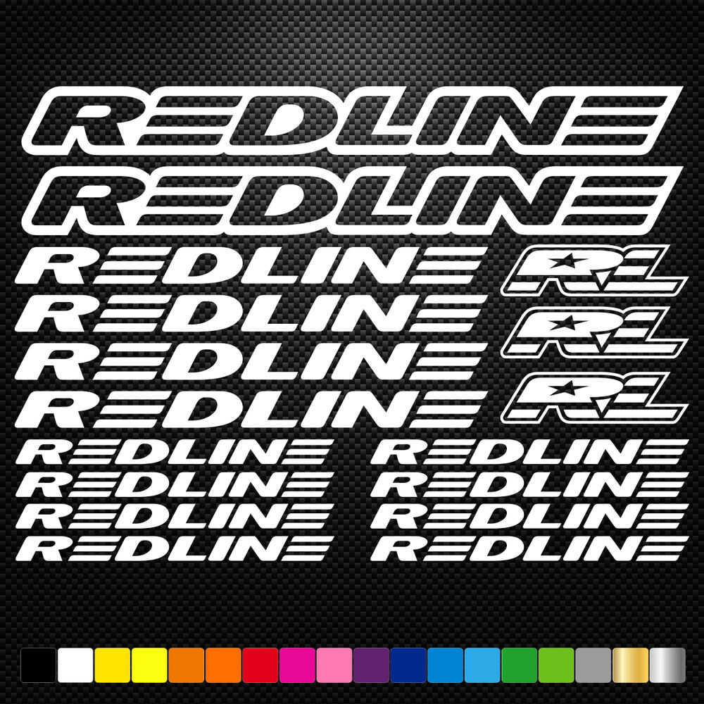 redline 17 stickers autocollants adh sifs vtt velo mountain bike dh freeride ebay. Black Bedroom Furniture Sets. Home Design Ideas