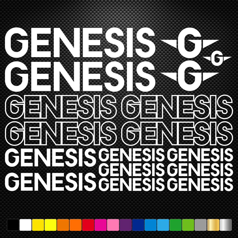 Details about genesis cycles vinyl decal stickers sheet bike frame cycling bicycle mtb road