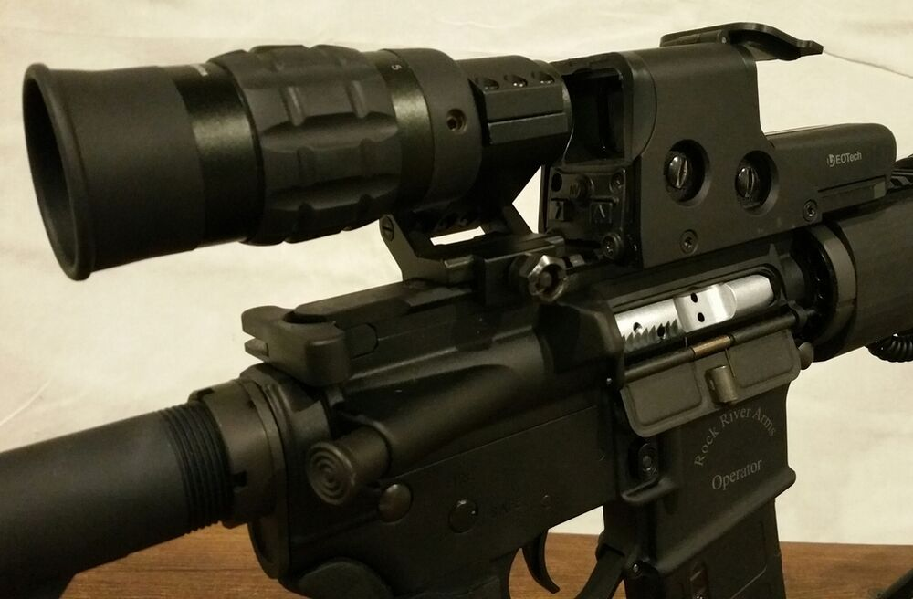 1 5 5x Magnifier With Fts Mount For Eotech Aimpoint